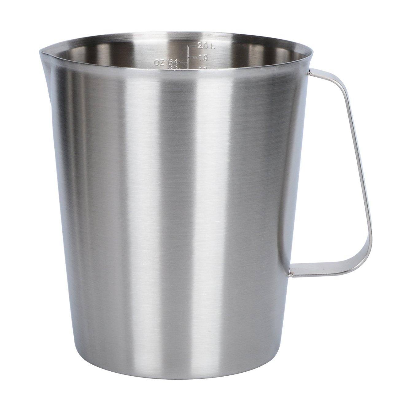 Holfcitylf Stainless Steel Milk Frothing Pitcher Jug Coffee Foam Measurement Markings in both oz and ml 17oz / 24oz / 34oz / 51oz / 68oz