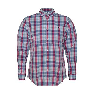 Vineyard Vines Men's Slim Fit Whale Button Down Shirt (Patriots Point Plaid, Medium) at Men's Clothing store