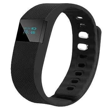 Reloj Bluetooth,Xinan Muñeca Deportes Venda Control Actividad Inteligente Reloj Podómetro (Negro)