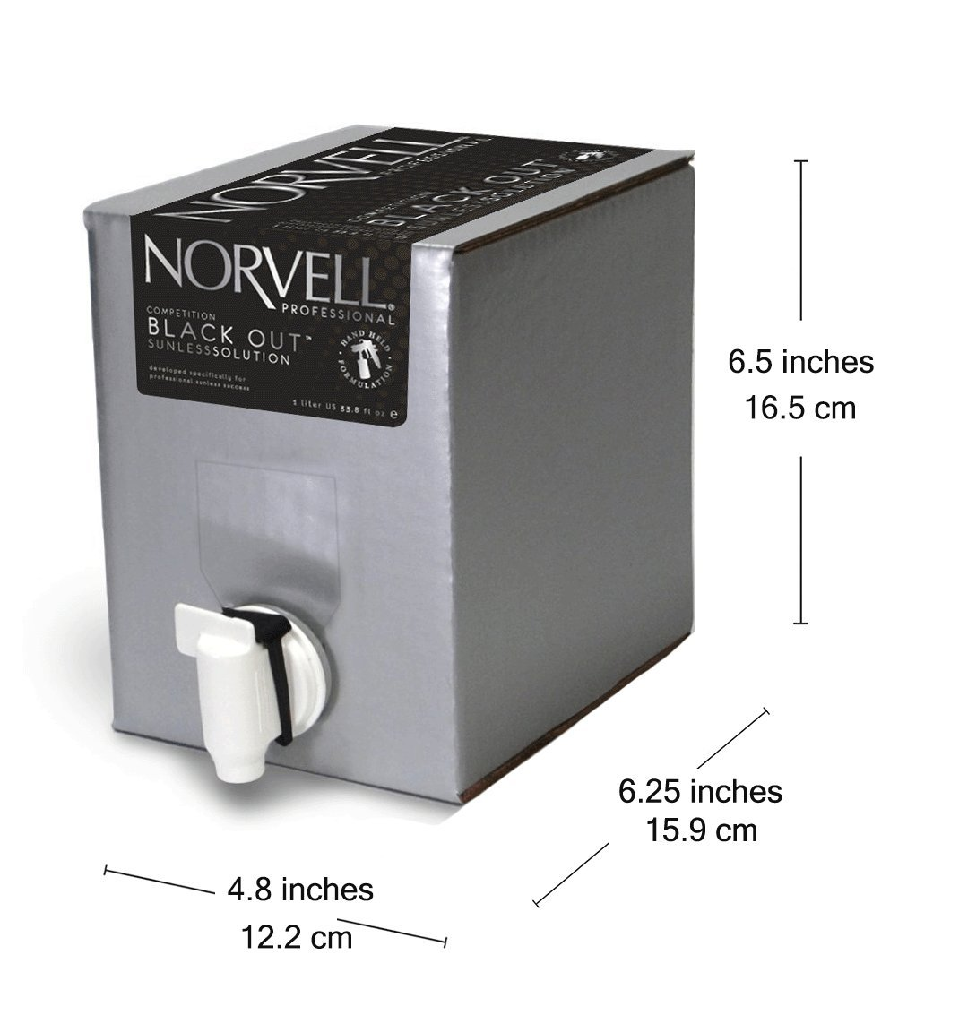 Norvell Premium Sunless Tanning Solution - Competition Black Out, 1 Liter Box by Norvell (Image #6)