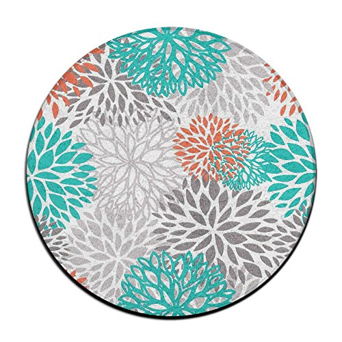 Sppmet Coral And Gray Printed Mat Area Rug Floor Carpets For Nursery Bedroom Kids Room Chair Mat