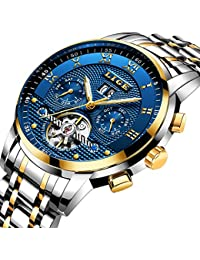 Mens Watches Top Brand Luxury LIGE Automatic Mechanical Watch Men Waterproof Full Steel Wrist Watch