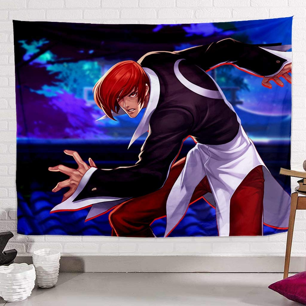 HappyL King of Fighters Tapestry 丨 Home Decor Wall Tapestry Wall-Mounted Living Room Bedroom Dormitory - Multi-Color Size Optional (with Mounting Accessories) Tapestry (Color : C, Size : 150CM×100CM) by HappyL