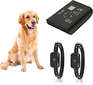 TTPet In-ground/Aboveground Electric Dog Fence, Pet Containment System, Waterproof/Rechargeable Collar, Shock/Tone Correction, 650Ft Wire