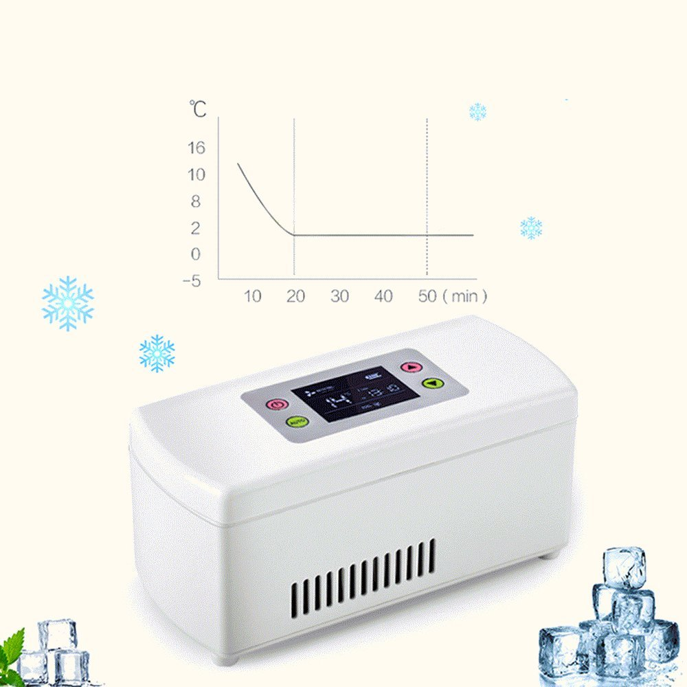 Finlon Portable Insulin Cooler Refrigerated Box / Travel Mini Drug Reefer / Car Small Refrigerator