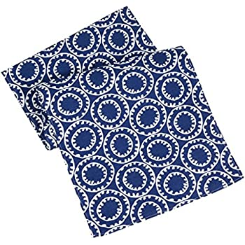 Table Runners Nautical Table Runner Blue U0026 White Polyester Washable Nautical  Decor Bell ...