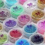 Neverland Beauty 30pcs Mixed Colors Powder Pigment Glitter Mineral Spangle Eyeshadow Makeup Cosmetic Set Long-lasting Random Colo