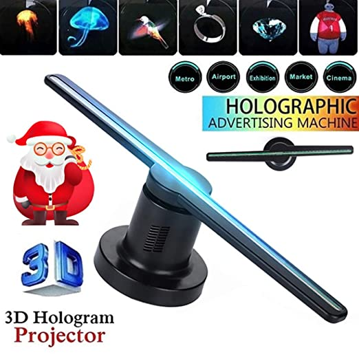 hll-036 Proyector de Ventilador Holograma 3D 224 Leds Holográfica ...