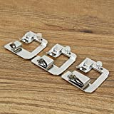 KINGSO 3 Pcs(1/2'',3/4'',1'') Domestic Professional Wide Rolled Hem Sewing Machine Snap-On Presser Walking Foot Kit for Low Shank Sewing Machine, Singer, Baby Lock, Brother, Janome, etc