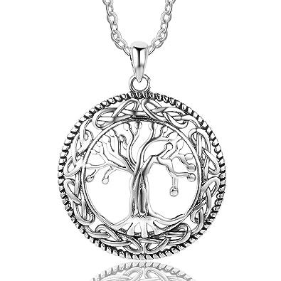 Bo Pao Lebensbaum Kette Damen Silber Sterling 925 mit rund Baum des Lebens  Anhänger 113290d29d