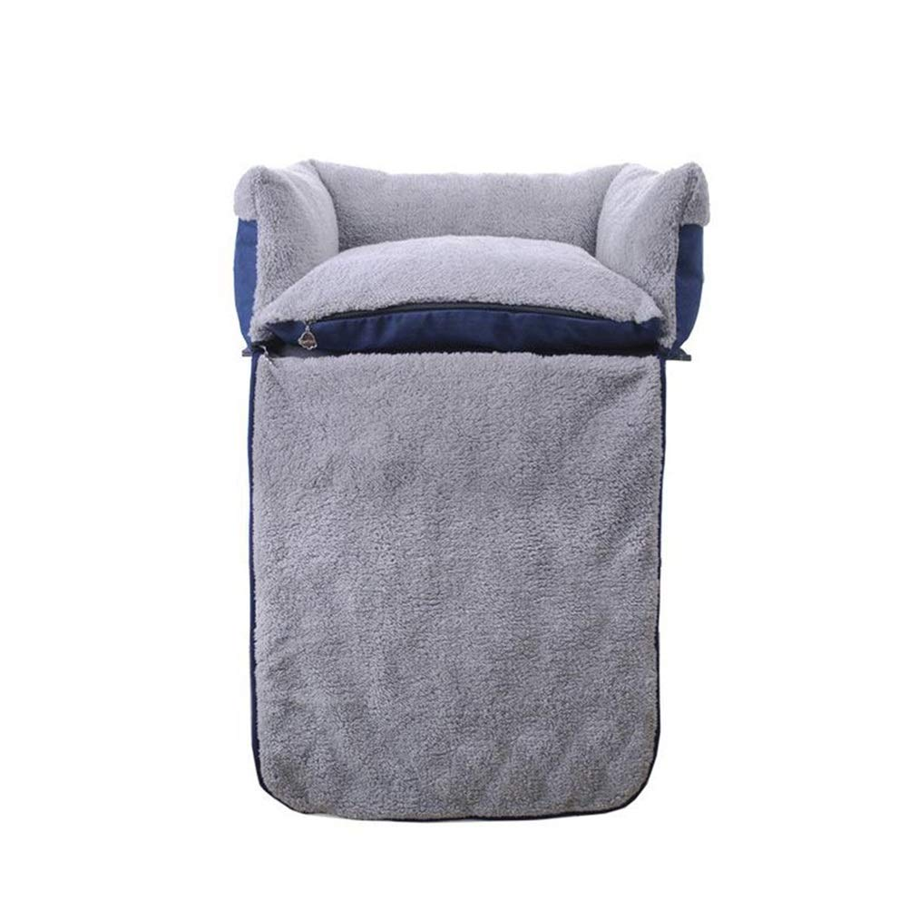L Soft and Comfortable Removable and Washable pet Bed Reversible Clamshell cat Bed Dog Bed Plush pet Sofa Four Seasons Universal Pet cat Dog cave (Size   L)