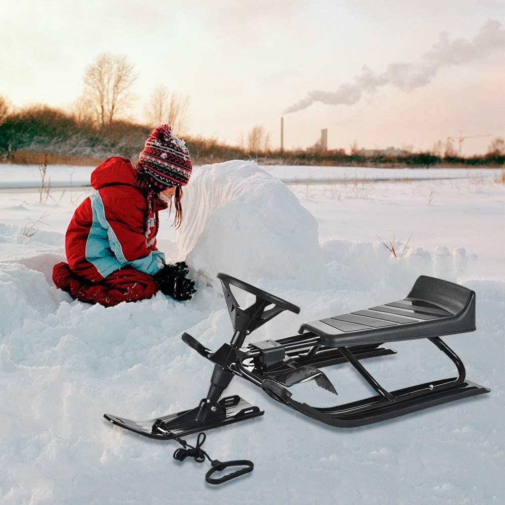 invierno para ni/ños Trineo Bob con palancas de freno cuerda de tracci/ón nieve