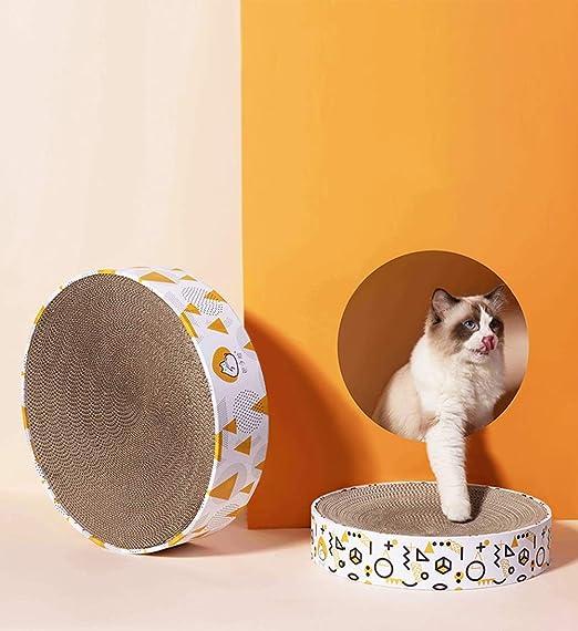MC.PIG Reversible Cat CARTÓN ACAPARAMIENTO Junta - Corrugado Bollos Cara del Gato Rascar Placa Garras de Arena for Gatos de Desgaste del Gato Gato Rascarse Junta Suministros (Size : L): Amazon.es: Productos
