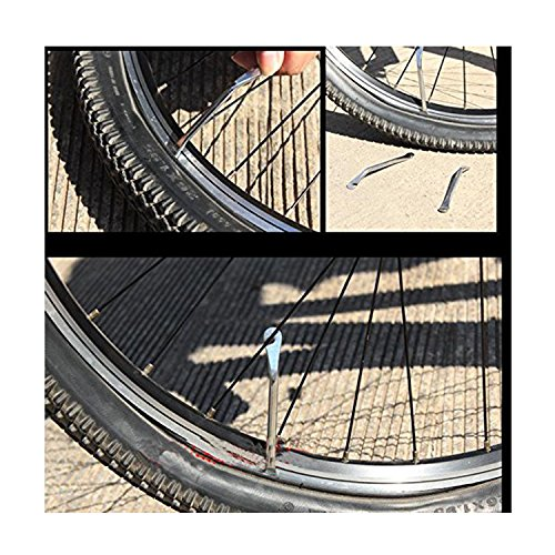 Bicycle Inner Tube Repair Kits, 2pcs Steel Tire Levers + 18pcs Tyre Patches+ 1pc Metal Rasp, Oumers Bike Cycling Rubber Solutions Puncture Spot Mechanic Fix Tools, For Bike Tire Changes