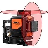 Livello laser, Tacklife SC-L04 Livella Laser Classica a Croce con Gamma di Misurazione 30m e Funzione di Inclinazione, Linea Orizzontale e Verticale Autolivellante, IP54