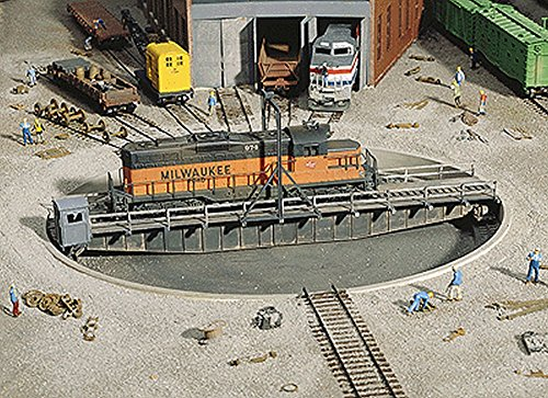 "Walthers Cornerstone Series174 HO Scale 90' Turntable Kit Pit Diameter: 13-3/16"" 33cm Bridge Holds Loco Up to 12-3/8"" 30.9cm from Walthers"