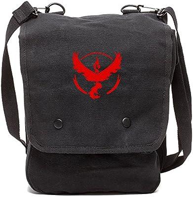 Grab A Smile Pokemon Team Valor Canvas Crossbody Travel Map Bag Case GSMP-BK5597-RD529