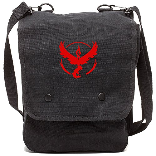 Valor Map - TEAM VALOR Canvas Crossbody Travel Map Bag Case in Black