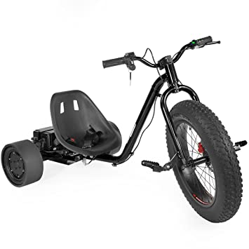 Amazon.com : XtremepowerUS Race Electric Drift Trike, (Black ...