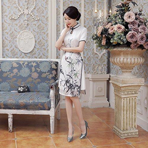 ACVIP Damen Sommer Qipao Cheongsam Kurze Ärmel Chinesische ...