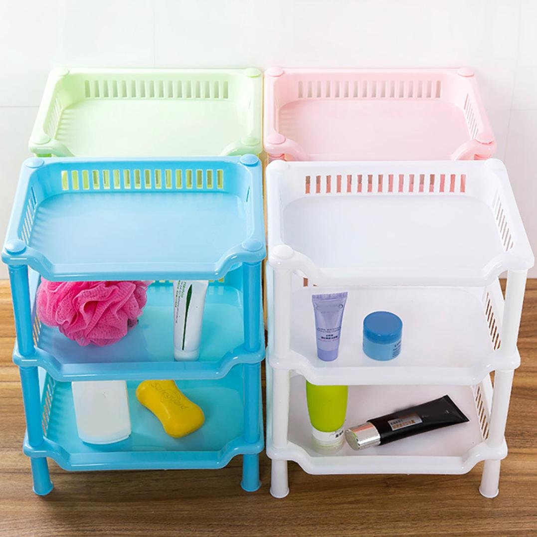Amazon.com: AmyDong Storage Box,Clearance Bathroom Shelf 3 Tier ...