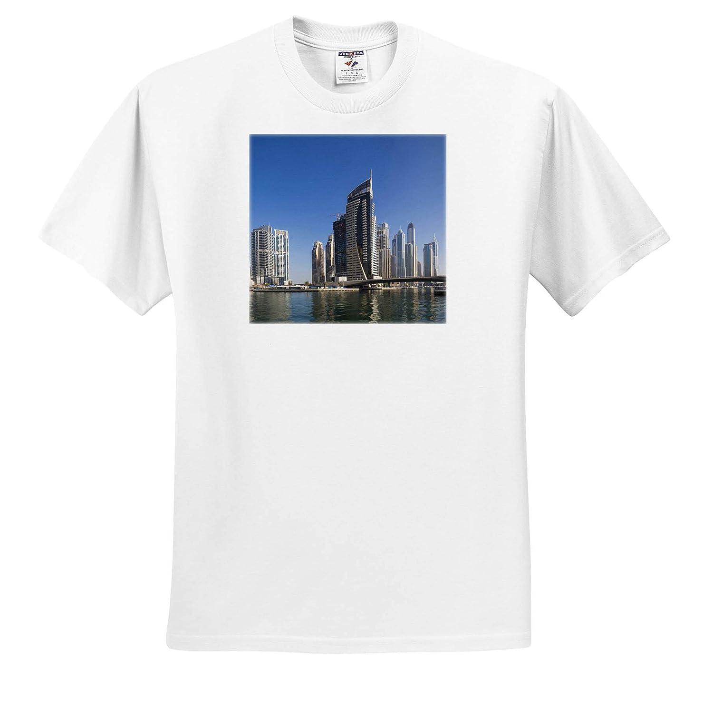 Dubai ts/_312915 Adult T-Shirt XL 3dRose Danita Delimont UAE Dubai Marina high-Rise Buildings