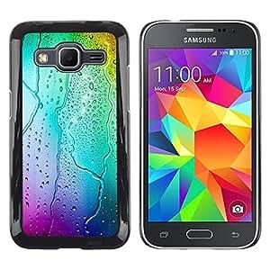 LECELL -- Funda protectora / Cubierta / Piel For Samsung Galaxy Core Prime SM-G360 -- Neon Colors Rain Glass --