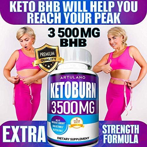 Keto Pills - 5X Potent (2-Pack   3500MG) - Best Keto Burn Diet Pills - Boost Energy and Metabolism - Exogenous Keto BHB Supplement for Women and Men - 180 Capsules 3