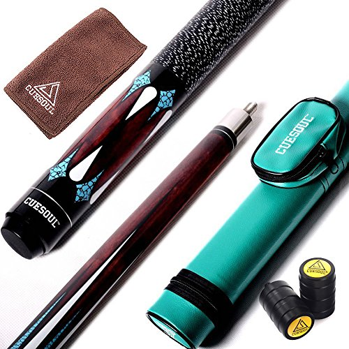 CUESOUL 58 Inch 2-Piece Maple Billiard Stick Pool Cue 19oz/21oz,11.5mm/13mm Tip[Weight Adjustable] ()