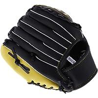perfeclan Guante de Béisbol para Mano Izquierda con Varios Tamaños 10.5 '' 11.5 '' 12.5 '', Color Negro y Amarillo