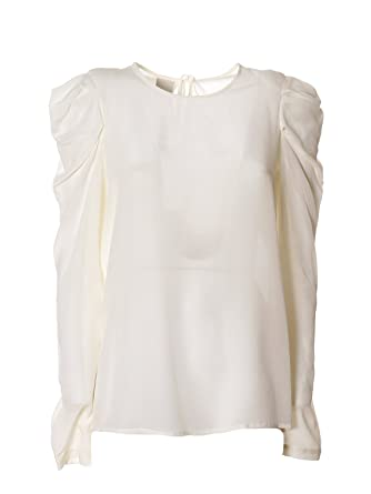 c5e1942b69ce2 Pinko Women s Pluriel2z07 Beige Silk Blouse  Amazon.co.uk  Clothing