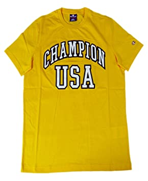Champion camiseta hombre AU Champion Yes (Amarillo), amarillo, M