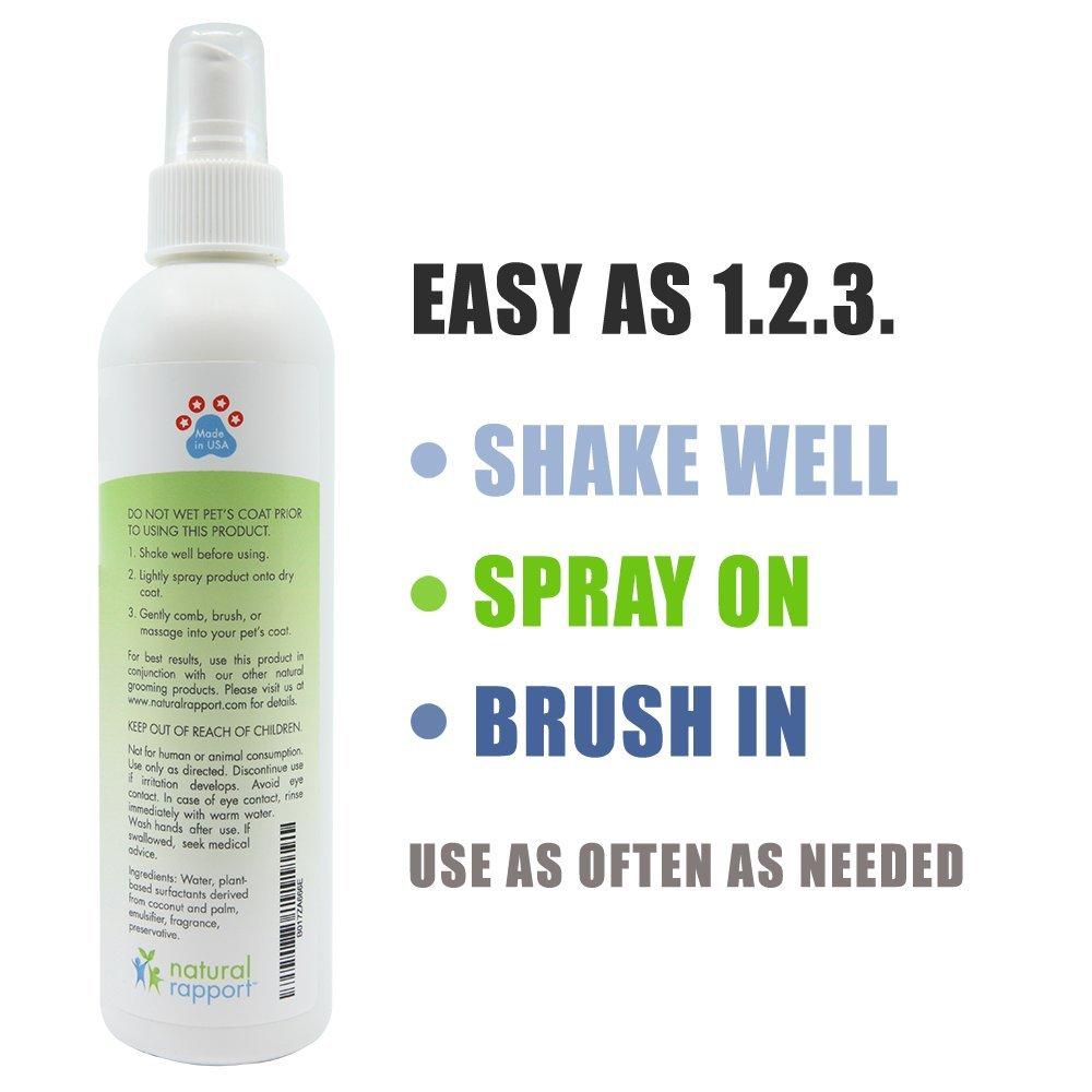 Natural Rapport - Spray de Colonia para Perro, 3 en 1, desodorizante Natural para Perros, también hidrata y suaviza el Abrigo, Fragancia Masculina, ...