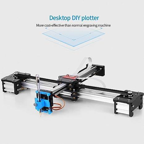Baugger Trazador | Escritorio Diy Montado Xy Plotter Pluma Dibujo Robot Máquina De Dibujo De Escritura A Mano Kit De Robot 100-240V: Amazon.es: Bricolaje y herramientas