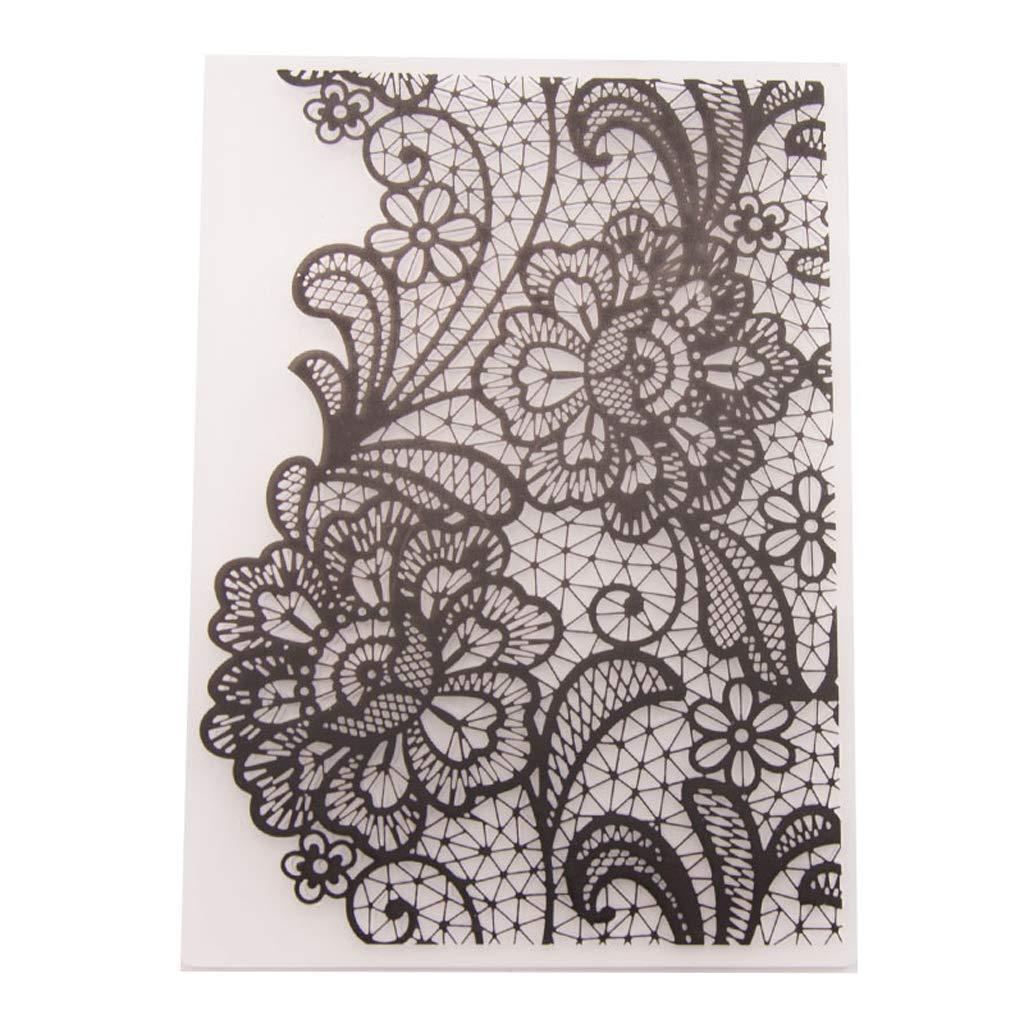 ZOOMY Plantilla de Estampado de pl/ástico /Álbum de Recortes /Álbum de Fotos Tarjeta Que Hace Manualidades de decoraci/ón Flower Net