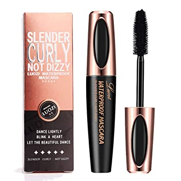 50f760ccf08 4D Silk Fiber Lash Mascara, Extra Long Lash Mascara,4D Silk Mascara  Waterproof Volume Fibre Mascara 4D Mascara Fiber Lashes Black: Amazon.co.uk:  Beauty