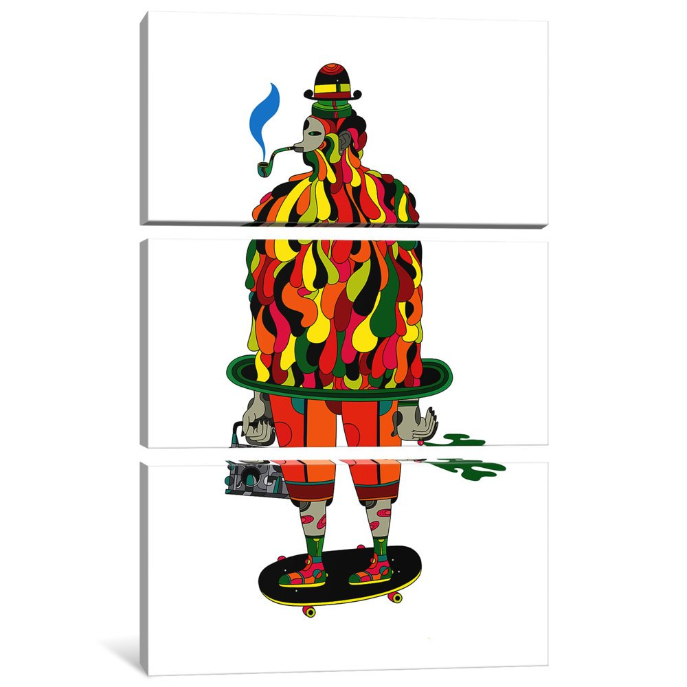 60 by 40//0.75 Deep iCanvasART 3 Piece The Big Daddy Canvas Print by Scott Balmer