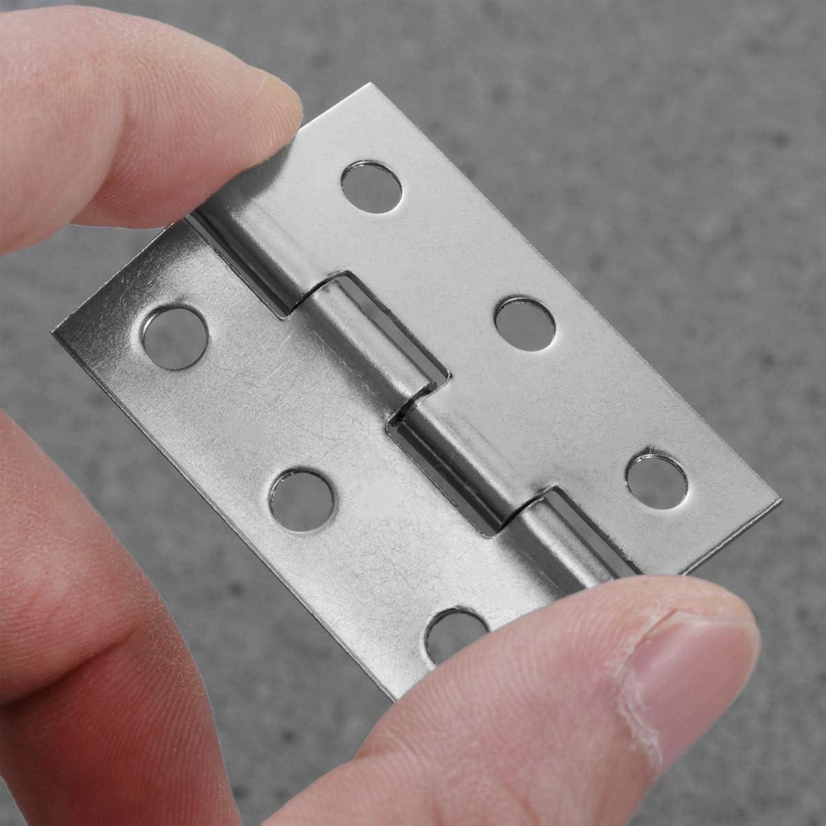 LIOOBO 30pcs durable en acier inoxydable ressort charni/ère-feuille muet charni/ère plate porte charni/ère pour porte fen/être fen/être 2 pouces