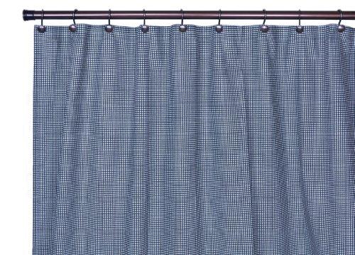 Gingham Shower Curtains - Logan Gingham Check Print Bathroom Shower Curtain, Black