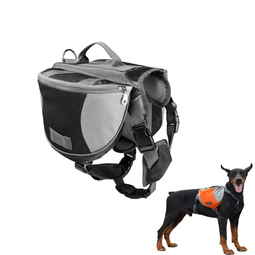 Black Large Black Large Dog Backpack Pet Wear Cloth Pack for Shopping Travel Walking Camping Hiking Training Saddle Bag Harness Quick Release Carriers Large Black color