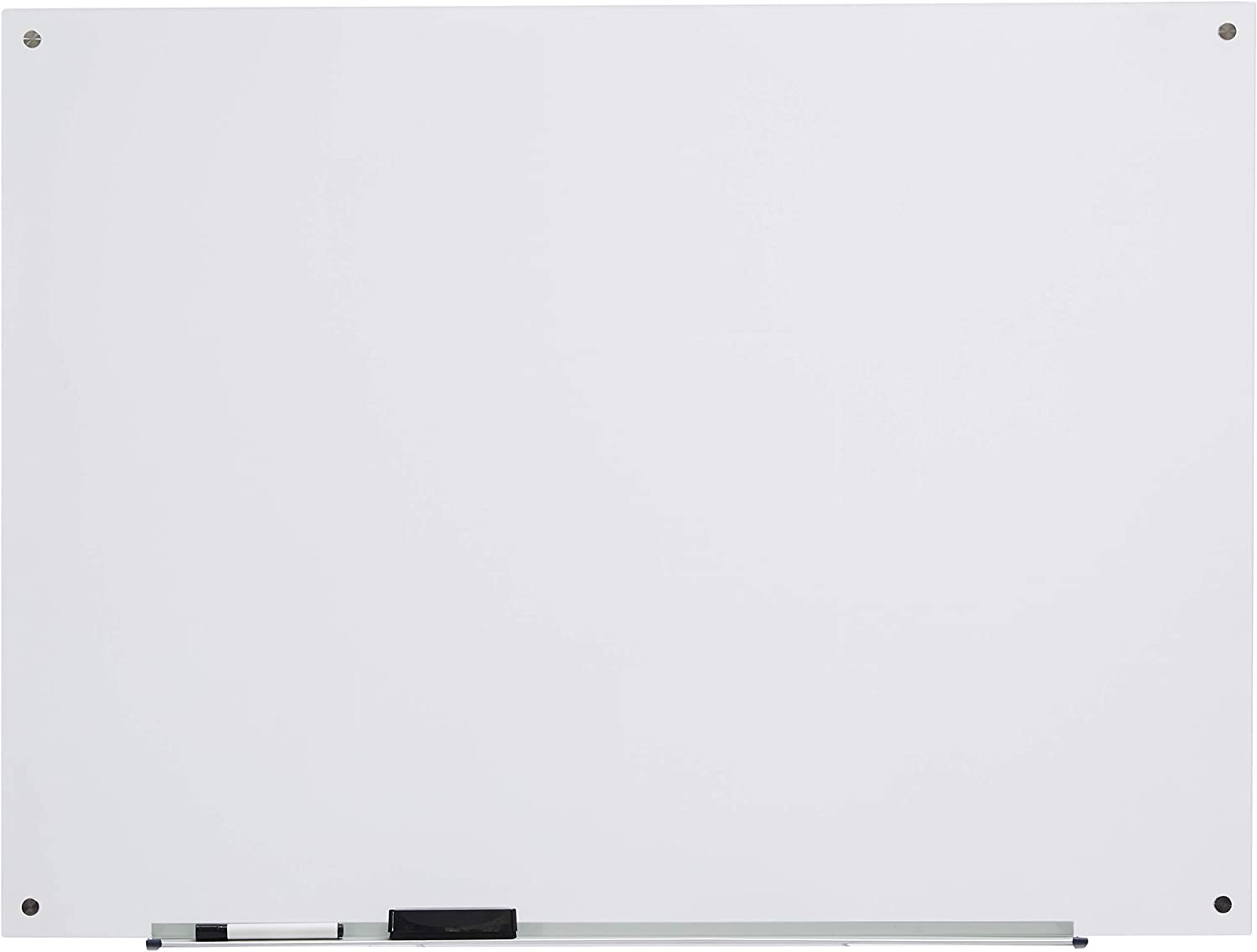 AmazonBasics Glass Dry-Erase Board - Frosted, Non-Magnetic, 4 Feet x 3 Feet