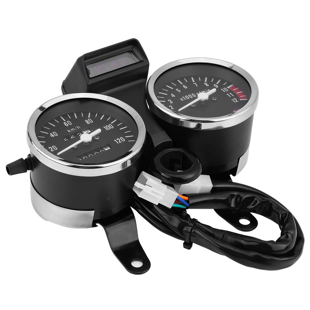 Acouto Motorcycle Odometer Speedometer Tachometer Speedometer Modified Accessories for Suzuki GN125 by Acouto
