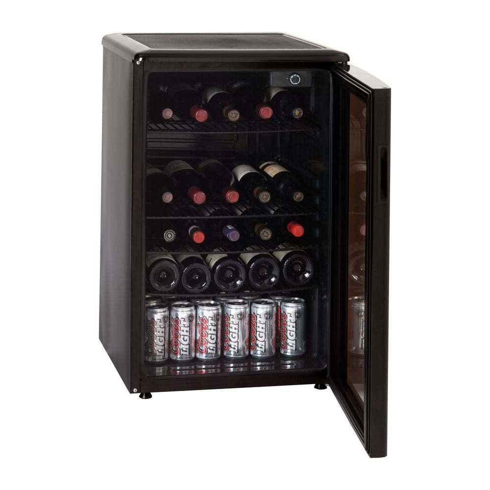 Haier HBCN05EBB 96-Can/46-Bottle Wine and Beverage Center, Black