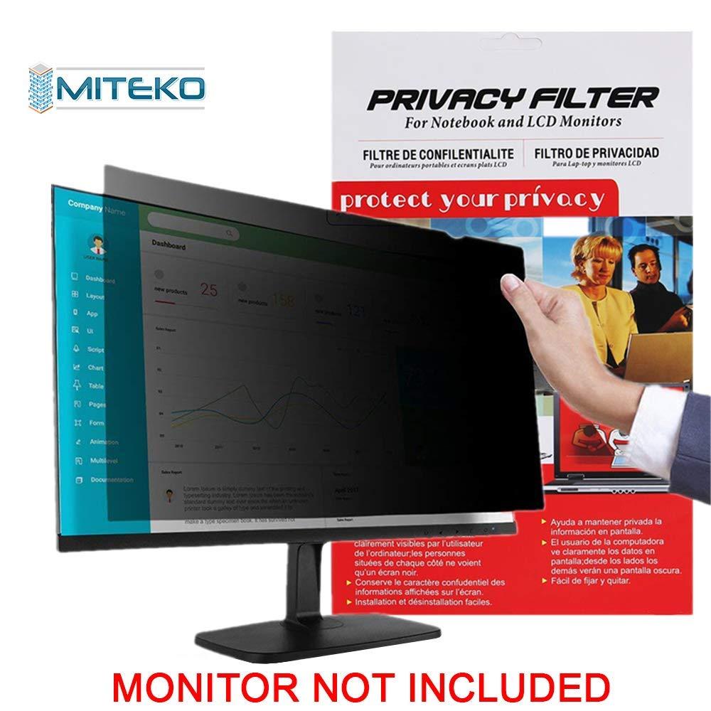 プライバシースクリーンフィルター 19.0インチ (16:10アスペクト比) 408mm(幅) x255mm(高さ) Miteko プライバシースクリーンフィルター ワイドスクリーンノートパソコン用 デスクトップコンピュータ グレア防止   B07PY3PRKD