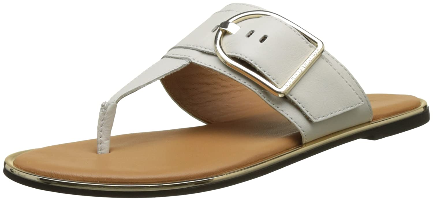 4ad5e5d1b0187 Tommy Hilfiger Women s Flat Sandal Oversized Buckle T-Bar  Amazon.co.uk   Shoes   Bags