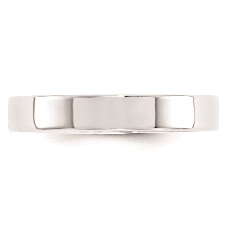 Full /& Half Sizes 10k White Gold 4mm Standard Flat Comfort Fit Wedding Ring Band Size 4-14