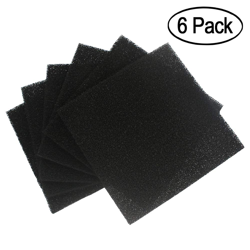 "6 Pack Solder Extractor Filter Carbon Filter Replacement Activated, Smoke Fume Absorber Filter for Hakko/Xytronic/Aoyue Smoke Absorber 5 1/8"" 5 1/8"" 3/8"""