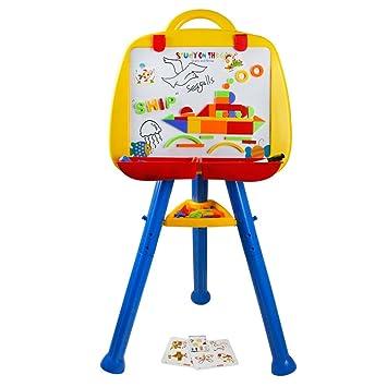 Caballete para niños, caballete todo en uno, letras magnéticas, pizarra caballete para niñas mayores de 3 años