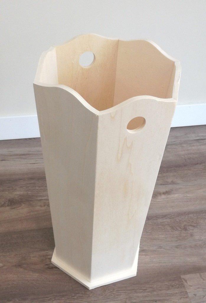 para pintar Paraguero madera : 25 * 25 * 50 cms. Dise/ño Hexagonal En madera de chopo crudo ancho//fondo//alto Medidas