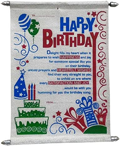 Happy Birthday Scroll Card Gifts For Girlfriend Wife Sister Best Friend Amazonin Toys Games
